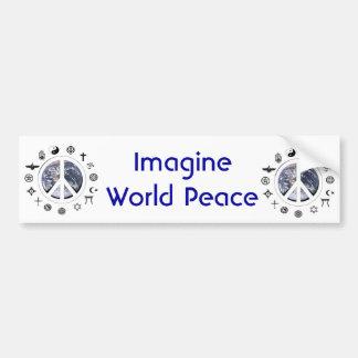 Paz de mundo pegatina para auto