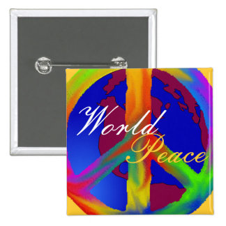 Paz de mundo pin