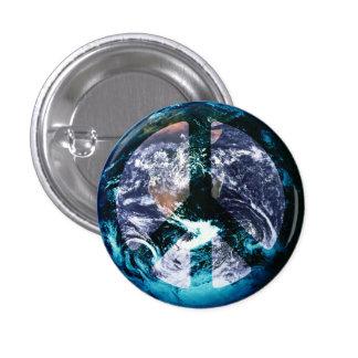 Paz de mundo pin redondo 2,5 cm