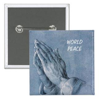 paz de mundo pin cuadrada 5 cm