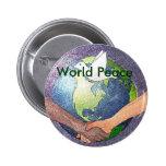 Paz de mundo pin redondo 5 cm