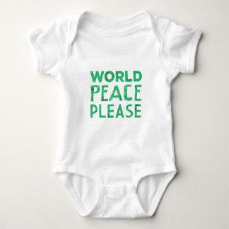 Paz de mundo por favor body para bebé