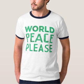 Paz de mundo por favor poleras