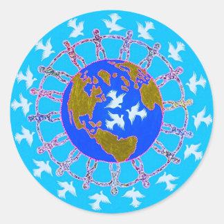 Paz de mundo por Metin Pegatinas