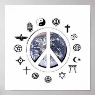 Paz de mundo póster