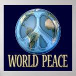 Paz de mundo posters
