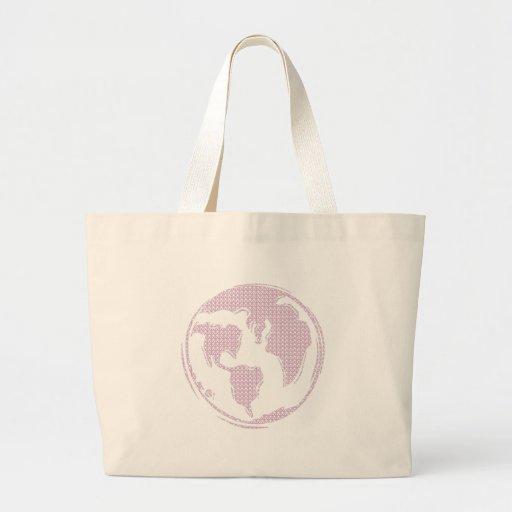 Paz de mundo (púrpura) bolsa