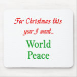paz de mundo tapetes de raton