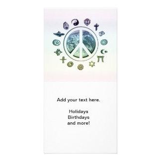 Paz de mundo tarjeta personal