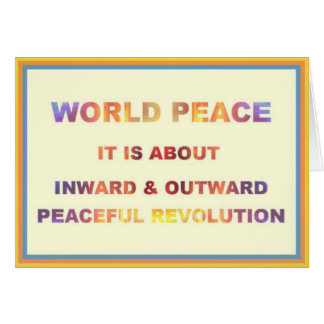Paz de mundo tarjeta de felicitación