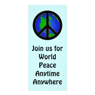 Paz de mundo tarjeta publicitaria a todo color