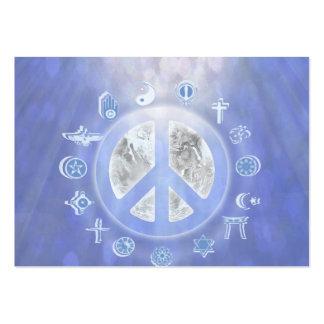 Paz de mundo tarjetas de visita grandes