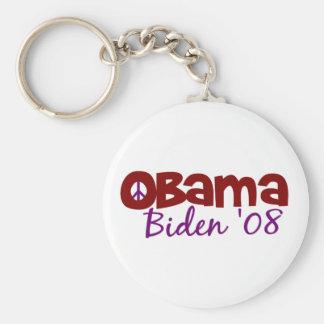 Paz de Obama Biden Llavero Redondo Tipo Pin