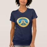 Paz de Obama Goldstar, camiseta de las señoras, en