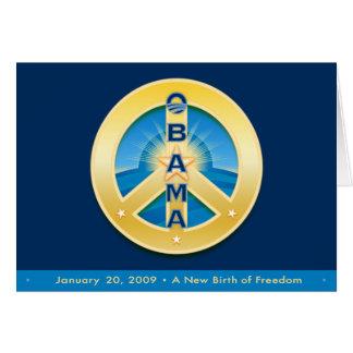 Paz de Obama Goldstar, tarjeta 1-20-09, en azul re
