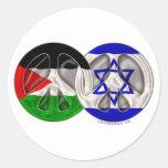 Paz de Palestina - de Israel Pegatinas Redondas