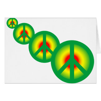 Paz de Rasta multi Tarjeta De Felicitación