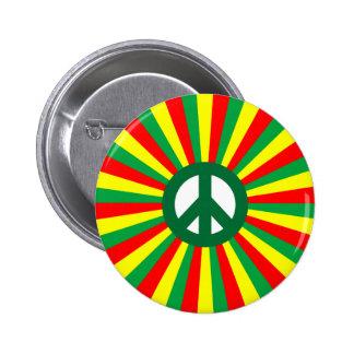 Paz de Rasta Pin Redondo 5 Cm