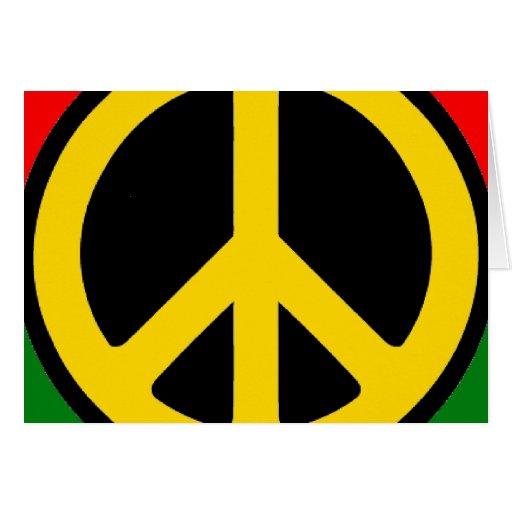 Paz de Rasta Tarjeta