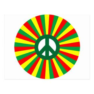 Paz de Rasta Tarjetas Postales