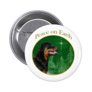 Paz de Rottweiler Pin Redondo De 2 Pulgadas