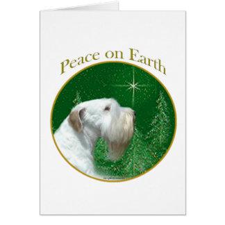 Paz de Sealyham Terrier Tarjeta De Felicitación