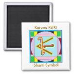 Paz de Shanti es decir: Símbolo curativo de Karuna Imán Cuadrado