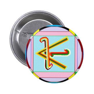 Paz de Shanti es decir: Símbolo curativo de Karuna Pin Redondo 5 Cm