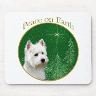 Paz de Terrier blanco de montaña del oeste Alfombrilla De Ratones