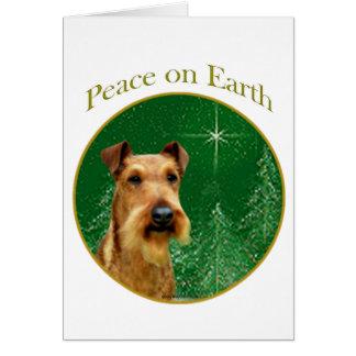 Paz de Terrier irlandés Tarjeta De Felicitación