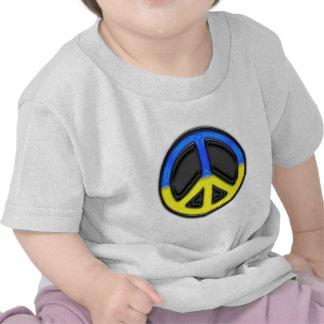 Paz de Ucrania Camisetas