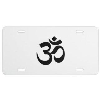 Paz del ॐ del símbolo de OM Namah Shivaya Aum Placa De Matrícula