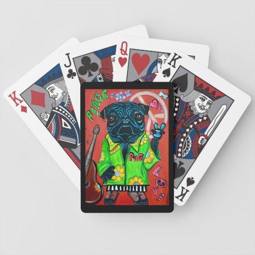 Paz del amor de los barros amasados baraja cartas de poker