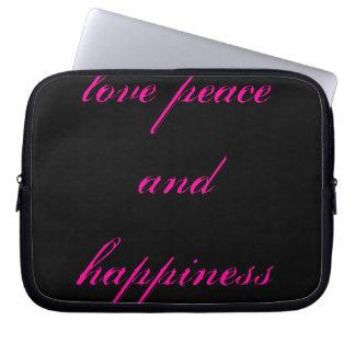 paz del amor y cubierta del ordenador portátil de  mangas computadora