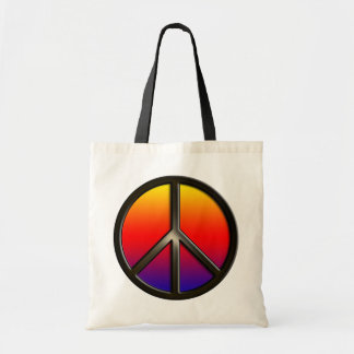Paz del arco iris bolsa tela barata