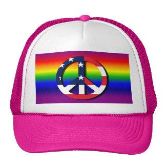 Paz del arco iris gorras de camionero