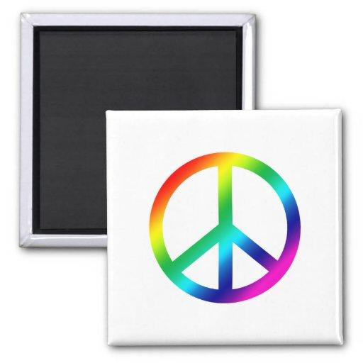Paz del arco iris imán de frigorifico