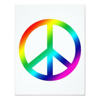 """Paz del arco iris invitación 4.25"""" x 5.5"""""""