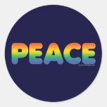 Paz del arco iris pegatina redonda