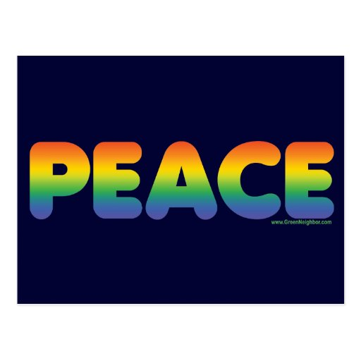 Paz del arco iris postal