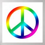 Paz del arco iris poster