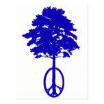Paz del azul postal