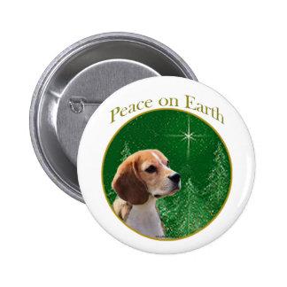 Paz del beagle pin redondo de 2 pulgadas