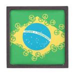 paz del Brasil Cajas De Recuerdo De Calidad