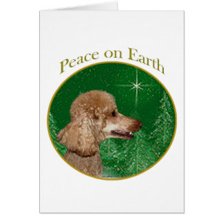 Paz del caniche tarjeta de felicitación