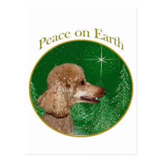 Paz del caniche tarjeta postal