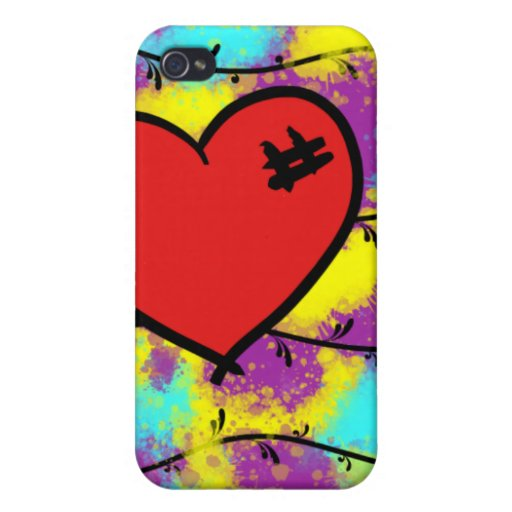 Paz del corazón iPhone 4/4S funda