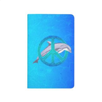 Paz del delfín cuaderno grapado