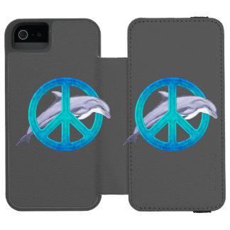 Paz del delfín funda billetera para iPhone 5 watson