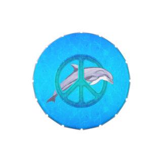 Paz del delfín jarrones de dulces